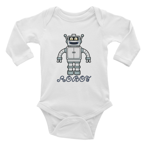 Robot Infant Long Sleeve Bodysuit