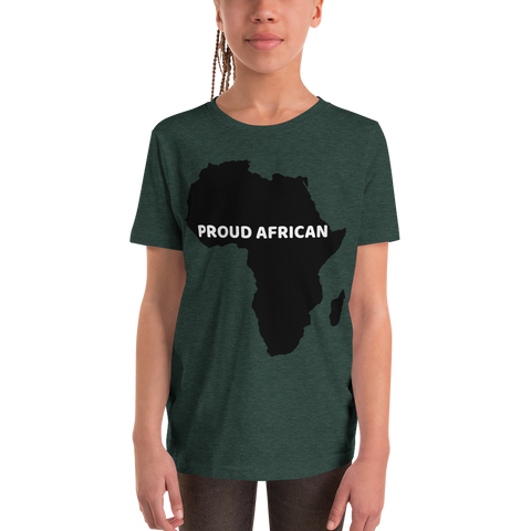Proud African Youth Short Sleeve T-Shirt