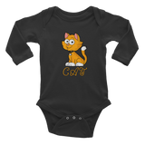 Cat Infant Long Sleeve Bodysuit