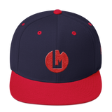 Red Iconic Snapback Hat