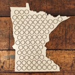 MN Beer Cap Bottle Map | We also have Wisconsin! | Carver Junk Company | Handmade Home Decor | Craft Beer Display