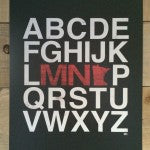 MN Alphabet State Print Red White Black
