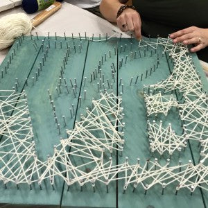 Carver Junk Company String Art Statement Piece Wall Art Workshop | MakeMN | DIY Workshop | Minneapolis, MN | Ladies Night