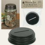 Mason Jar Coin Bank Lid | Carver Junk Company Mason Jar Bar | Choose Your Own Mason Jar Accessories