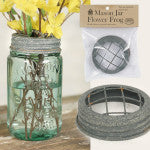 Mason Jar Flower Frog Vase Attachment  | Carver Junk Company Mason Jar Bar | Choose Your Own Mason Jar Accessories