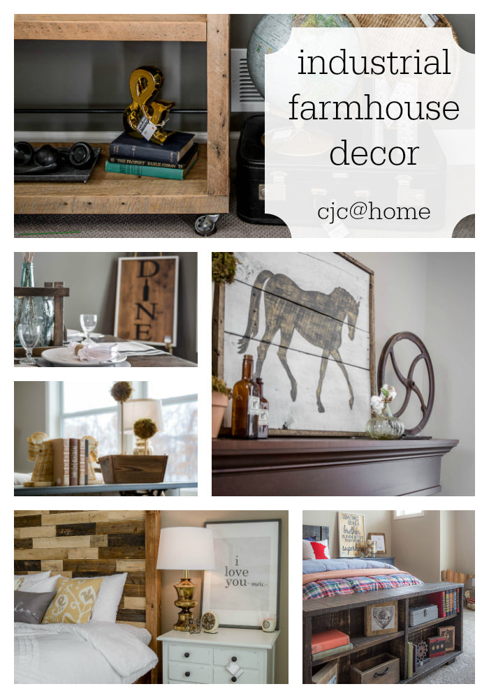 CJC@HOME Collage | Industrial Farmhouse Decor | Carver Junk Company | Styled Home Shopping Event Sale