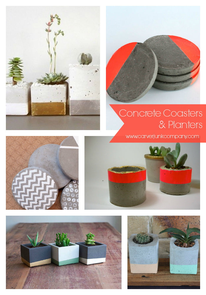 Concrete Coasters & Planters |MakeMN at Carver Junk Company | Minneapolis Workshop Series | Minnesota DIY