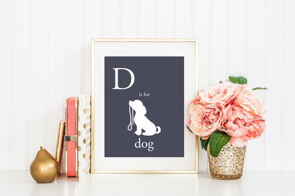 Autumn Definition Art Print | Minneapolis Wall Decor Wall Art | Made in MN | Minnesota Artist | D is for Dog Puppy | Nursery Art | Carver Junk Company