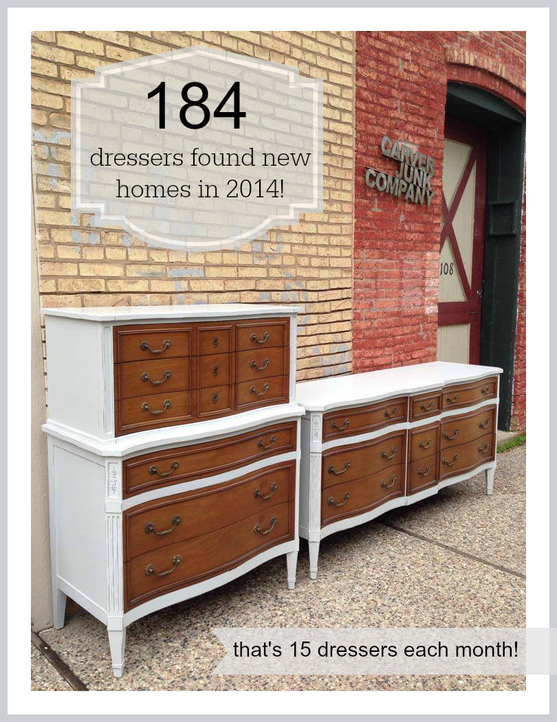 Carver Junk Company | 2014 Year in Review | Furniture | Painted Dresser| Repainted | Milk Paint | Chalk Paint | Lacquer Spray