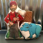Paul Bunyan and Babe the Blue Ox Plush Set | Carver Junk Company | Handmade MN | Original Art | Brian Ness | Lochness Mpls