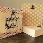 Photo Holder Wood Block | Handmade MN | Great for Recipes, Photos, Handwritten Notes, Instagram Photos