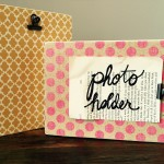 Photo Holder Wood Block | Handmade MN | Great for Recipes, Photos, Handwritten Notes