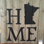 Barnwood Handpainted Home MN Sign | Minnesota