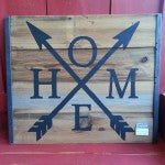 Custom Made-to-order Barnwood Sign | Home Arrows | Handmade in MN | Minnesota Signs | Handpainted