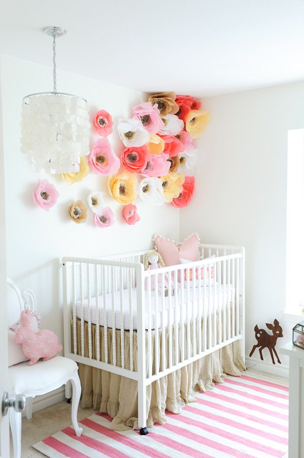 MakeMN Paper Flower Decorating Idea Flower Baby Nursery
