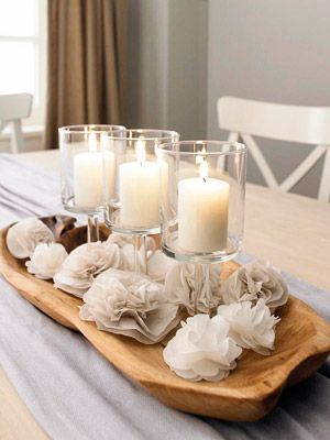MakeMN Paper Flower Decorating Idea Flower Centerpiece Dining Table