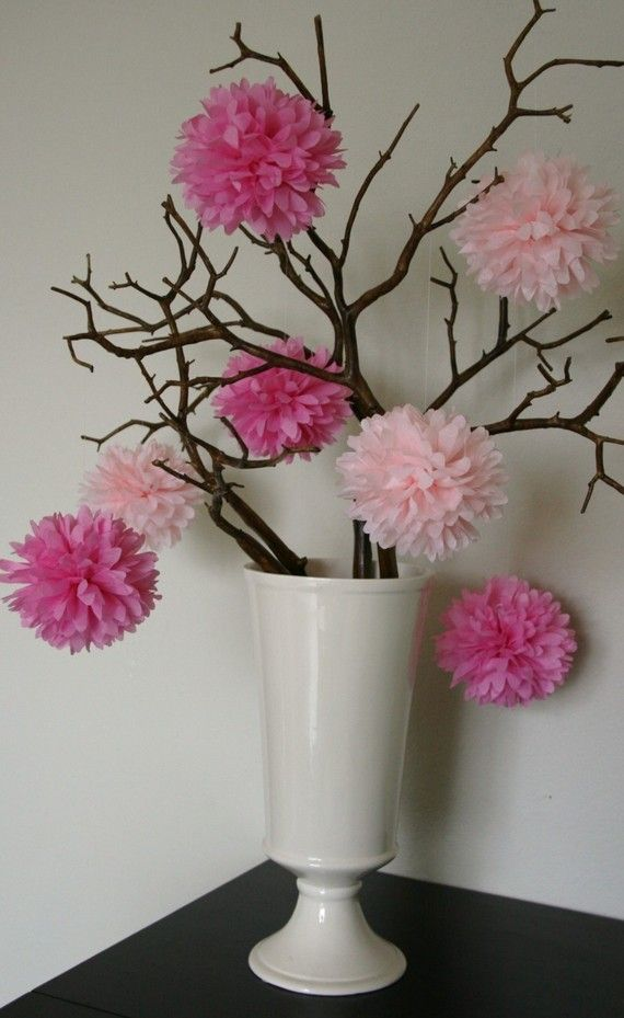 MakeMN Paper Flower Decorating Idea Flower Centerpiece Wedding Tree