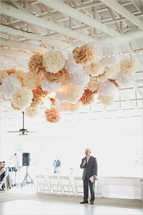 MakeMN Paper Flower Decorating Idea Flower Wedding Ceiling