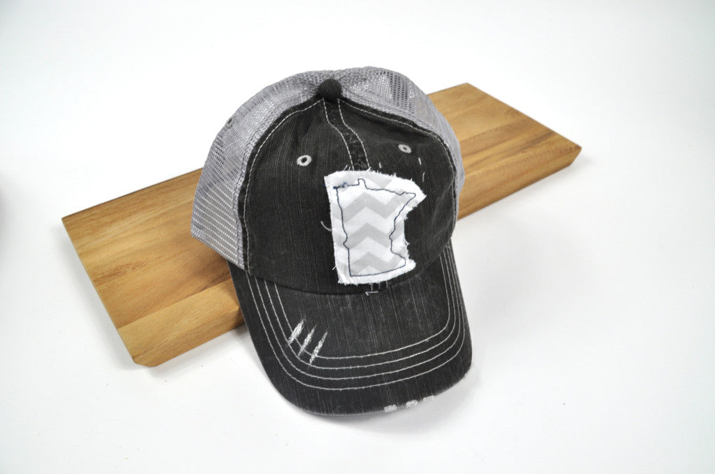 Minnesota Baseball Hat with chevron fabric on distressed-style hat with adjustable mesh back. $25. Carver Junk Company stores or online at carverjunkcompany.com. $35 Each one will vary slightly. 2016 Holiday Gift Guide
