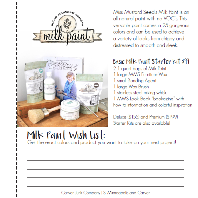 Miss Mustard Seed's Milk Paint Starter Kit | Carver Junk Company's 2016 Holiday Gift Guide | Handcrafted, Handmade, Locally Created Gifts and Decor | Minnesota Brick and Mortar | Shop Online at carverjunkcompany.com