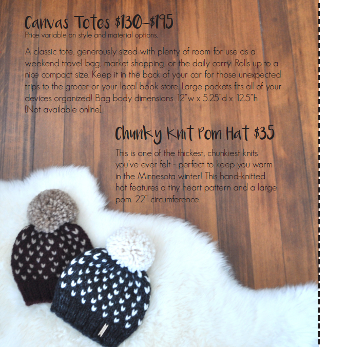 Chunky Knit Pom Hats | Carver Junk Company's 2016 Holiday Gift Guide | Handcrafted, Handmade, Locally Created Gifts and Decor | Minnesota Brick and Mortar | Shop Online at carverjunkcompany.com
