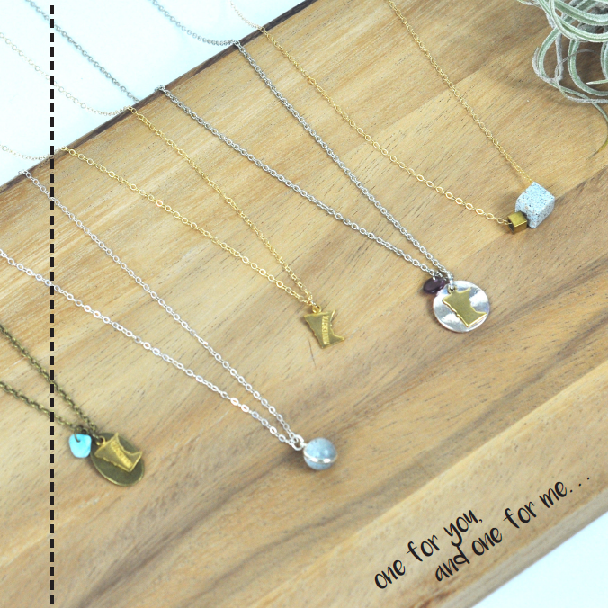 Minnesota and Concrete Necklaces | Carver Junk Company's 2016 Holiday Gift Guide | Handcrafted, Handmade, Locally Created Gifts and Decor | Minnesota Brick and Mortar | Shop Online at carverjunkcompany.com