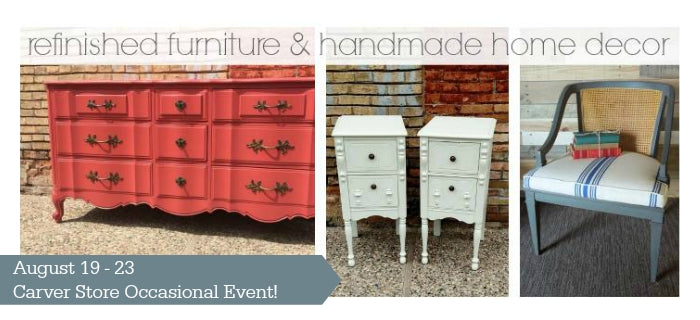 Carver Junk Company Occasional Sale | Carver, MN 553135 | Refinished Furniture and Handmade Home Decor | Made in Minnesota