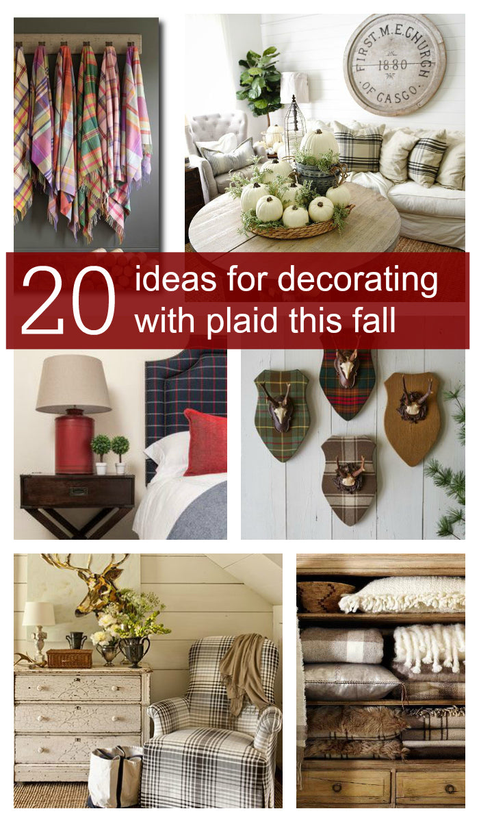 20 Ideas for decorating with Plaid this Fall | Plaid Fad | Mad for Plaid | Tartan Decor | Pinterest | Carver Junk Company