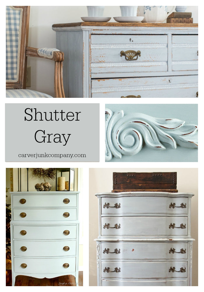 Shutter Gray Milk Paint Collage Carver Junk Company