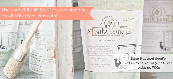 Carver Junk Company Spring Sale | Miss Mustard Seed's Milk Paint | Free Shipping | Furniture Paint |DIY Sale