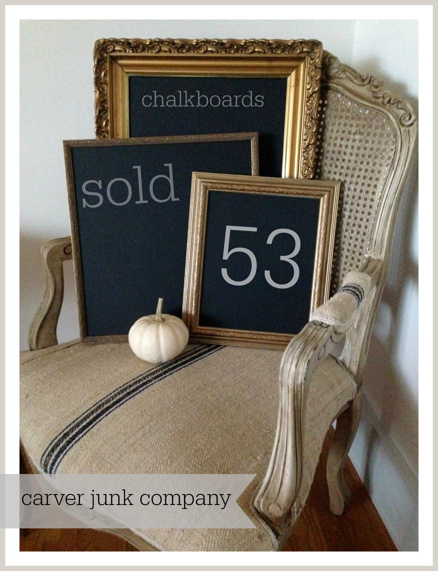 Carver Junk Company | 2014 Year in Review | Chalkboards Sold | Handmade Handpainted Chalk Boards
