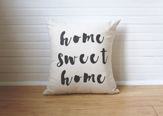Home Sweet Home handpainted linen pillow, includes insert. Carver Junk Company stores or online at carverjunkcompany.com. $35 Each one will vary slightly. 2016 Holiday Gift Guide