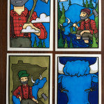 Loch Ness Art Prints | Paul Bunyan | Babe the Blue Ox | Minnesota Greeting Cards | Handmade