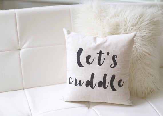 Let's Cuddle handpainted linen pillow, includes insert. Carver Junk Company stores or online at carverjunkcompany.com. $35 Each one will vary slightly. 2016 Holiday Gift Guide