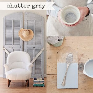 Miss Mustard Seed's Milk Paint | Shutter Gray | Milk Paint Colors | Available at Carver Junk Company | September Color of the Month COTM