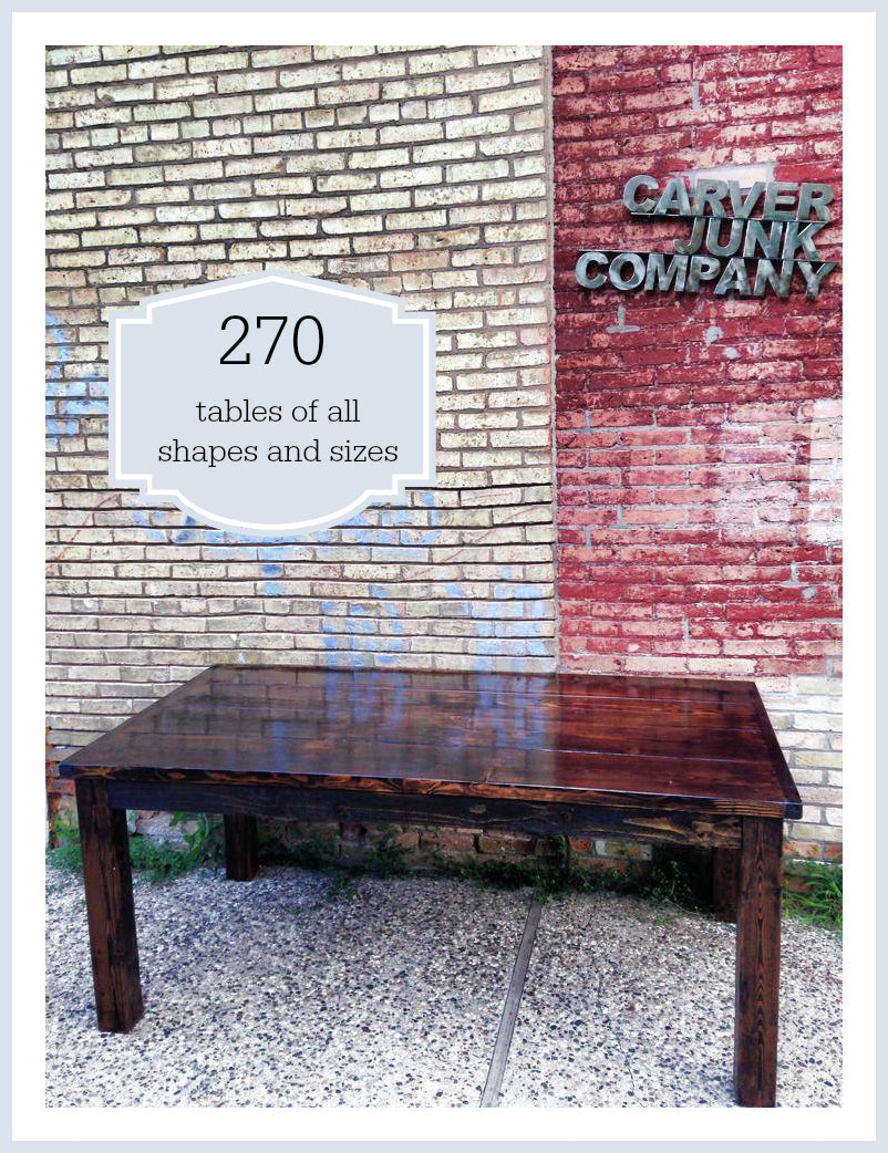 Carver Junk Company | 2014 Year in Review | Furniture |Handmade Tables | Harvest Table | Side Tables | End Table | Painted Repainted | Chalk Paint | Milk Paint