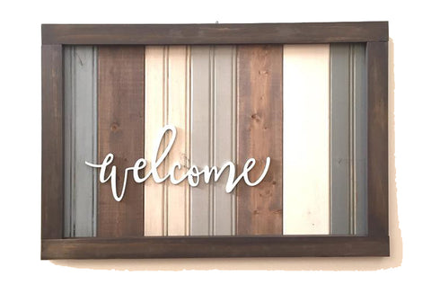 Welcome Sign | Milk Paint Workshop with Miss Mustard Seed Marian Parsons
