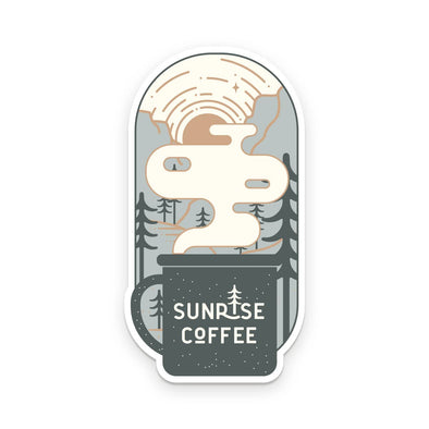 Sunrise Coffee Sticker