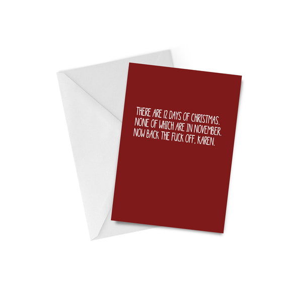 12 Days of Xmas Greeting Card