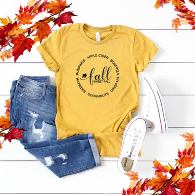 Fall Graphic Shirt- Fall Sweet Fall with circle