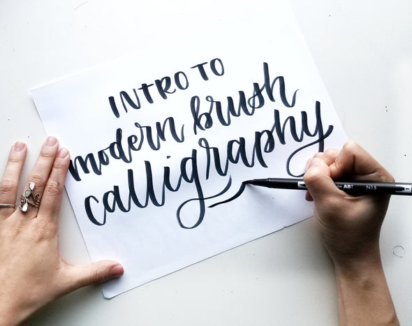 Intro to Modern Brush Calligraphy - Private Workshop