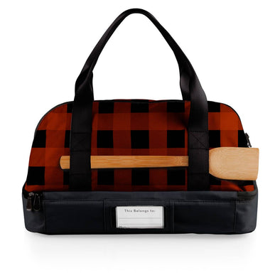 Hotdish Tote, Two Tier Buffalo Plaid Casserole Bag