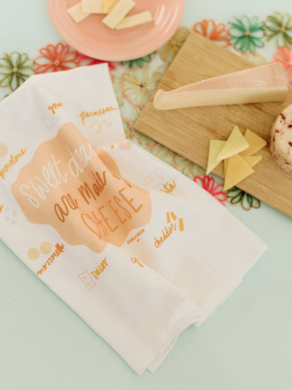 Sweet Dreams Are Made of Cheese Flour Sack Towel