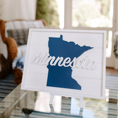 Minnesota Framed Stack Sign