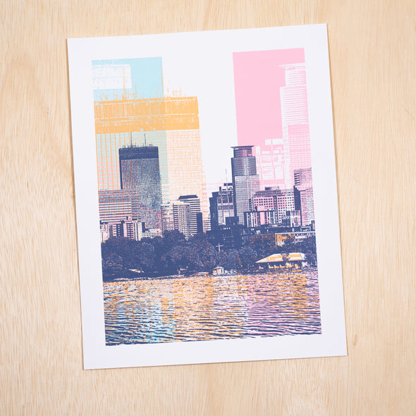 Lake Bde Maka Ska Minneapolis Skyline Art Print 11x14