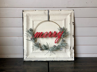 Asymmetrical Merry Wreath Workshop