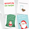 Inappropriate Christmas Card Bundle of 4 Chards