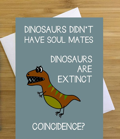 Dino Soul Mate Greeting Card