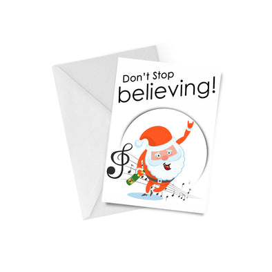 Don't Stop Believing Karaoke Christmas Card