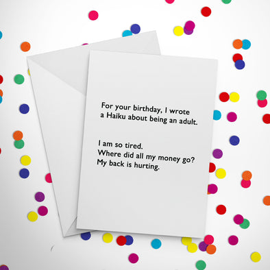 Birthday Haiku Greeting Card